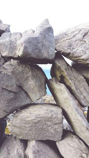 Wall on Inismaan. Inismaan Island Aran Islands Ireland Drystone Wall Atlantic Ocean Nature Outdoors No People Close-up