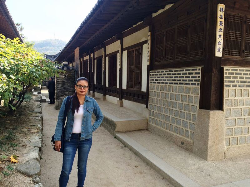 Traditional Korean House October 2015 Seoul, Korea Holiday Cultural Heritage