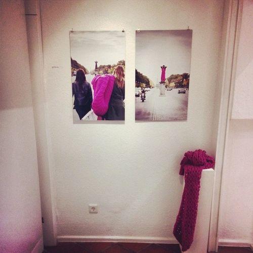 Urban Guerilla Knitting  goes gallery. Art , Yarn Bombing