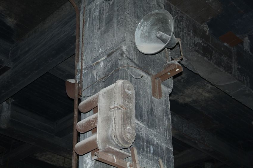 Loudspeaker on the wall Old Time & Abondoned Factory