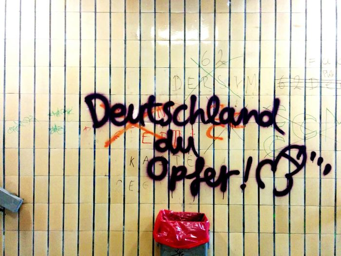 Graffiti Trainstation Vandalism Fuck Germany Still Not Loving Germany