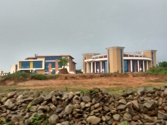 Original Photography No Filters  cse building and knowledge centre at nit agartala Low Angle Clean Sky