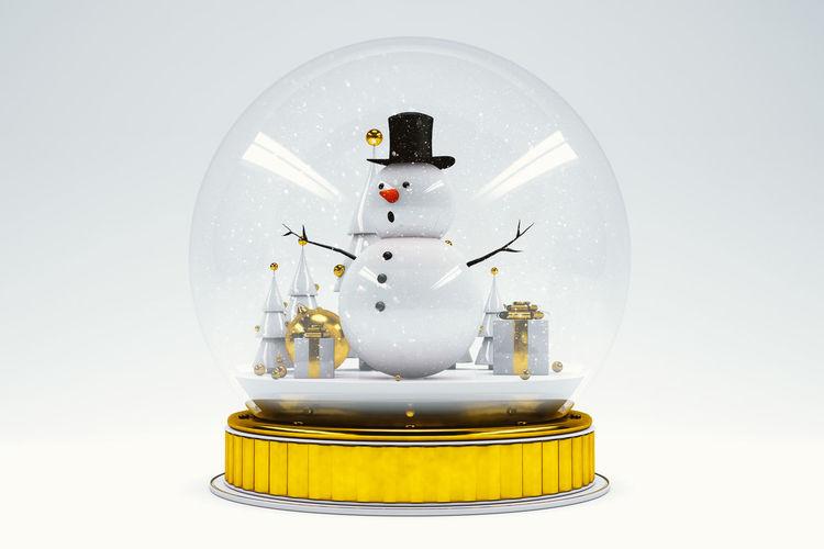 Snowman inside