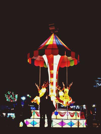 Illuminated Multi Colored Night People Outdoors First Eyeem Photo
