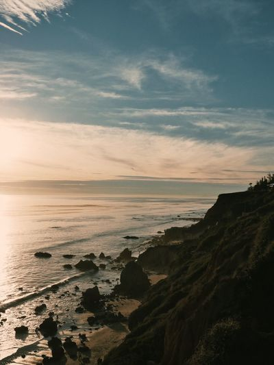 Sea Nature Sunset Sky Beauty In Nature Scenics Beach Water Tranquil Scene Outdoors Tranquility Day California Dreamin