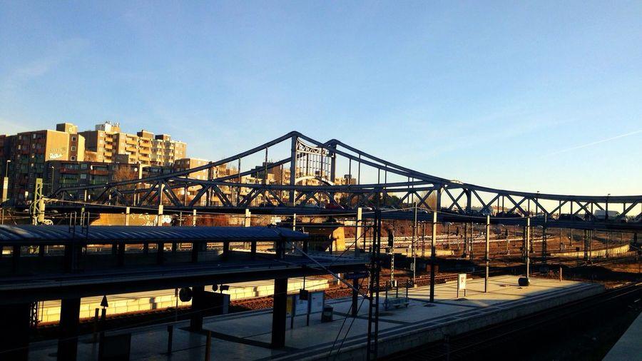 Sun Rise Bridge Architecture Blue Sky