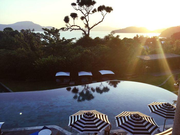 Sunset Sea View Thailand Phuket Sunlight #sripanwa