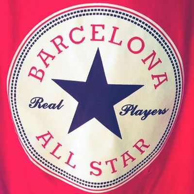 look like #logo of #converse but it is a own logo of #Barcelona #Allstar #player Coolest logo, huh ? Barcelona Converse Player Logo Allstar