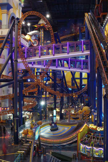 Rollercoaster In Shopping Mall
