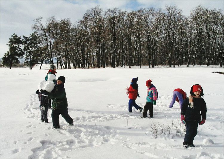 winter EyeEm Selects Snow Winter Cold Temperature Warm Clothing Full Length Child Outdoors Snowing People Vacations Boys
