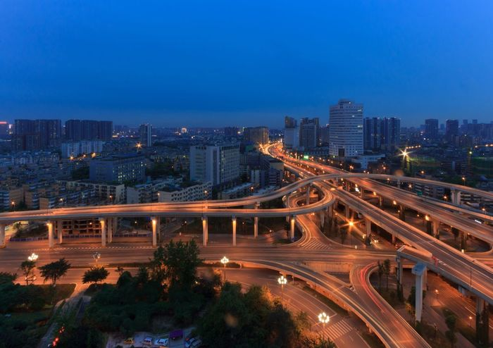 Blue Wave Curves Landscapes China Landscape_Collection Chengdu Chengdu China Landscape Car Lights Long Exposure City Street Light Architecture Cityscapes Bridge Night Nightphotography Night Photography Landscape_photography Cityscape The Architect - 2016 EyeEm Awards Cities At Night
