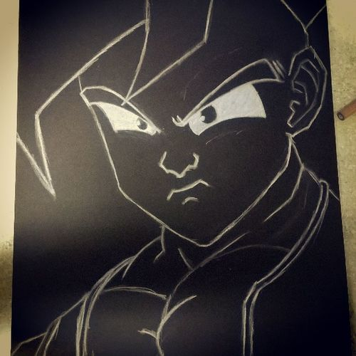 Haven't did this in a while so I'm still kinda rusty Uub DBZ Artist ArtWork ArtistLifestyle Charcoalpencil Drawing