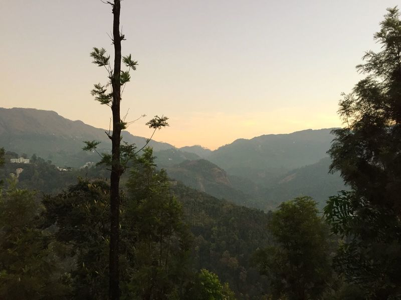 Sunrise in the Mountains at 1600 height meters. Mountain View