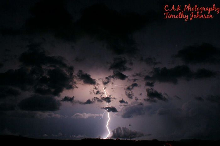 Night Lightning Thunderstorm Power In Nature Forked Lightning No People Outdoors Nature Cloudtoground