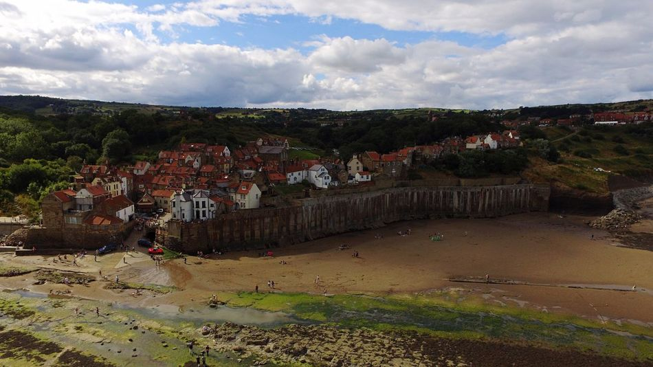 Architecture Seaside Village Robinhoods Bay Residential Structure House Residential Building Residential District High Angle View Town Crowded TOWNSCAPE Cloud - Sky Sky City Community Human Settlement Cloudy Water Cloud Day Seaside Seaview Sea A Bird's Eye View Drone  The Great Outdoors - 2017 EyeEm Awards