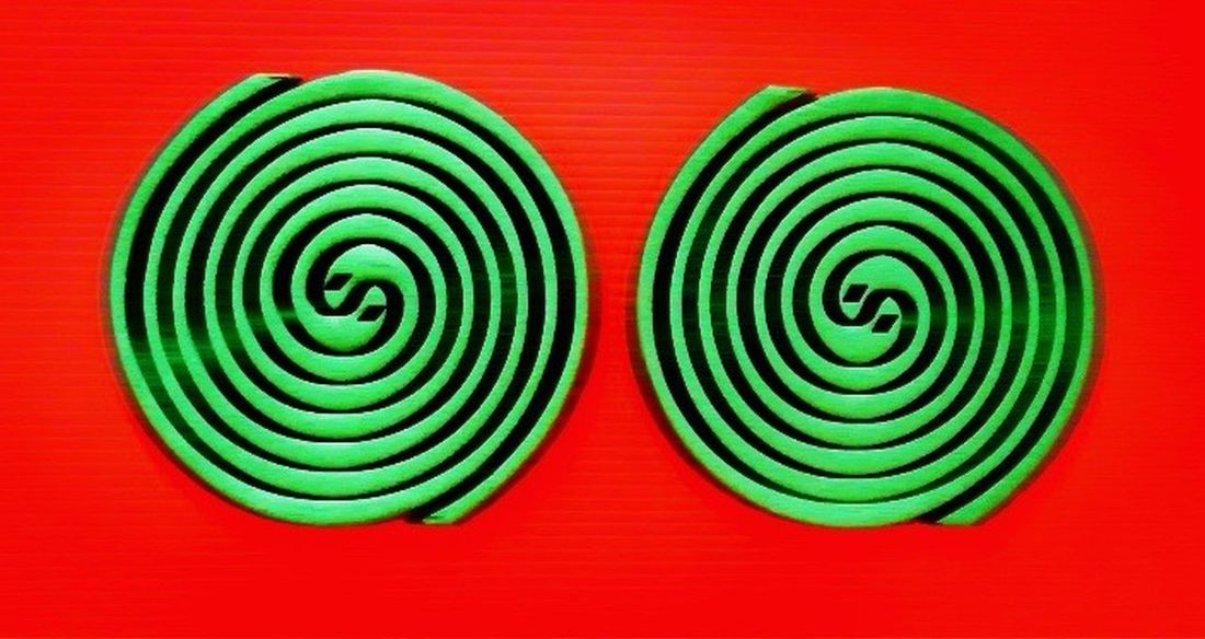 The OO Mission Spiral Coil Red And Green Photoart Light Ignite Burn Smoke Repellent Insect Mosquito Hypnotic Artphotography Contrast Shapes And Forms Yingyang Design Iconic Manmade Mosquitocoil Fine Art Photography Showcase July