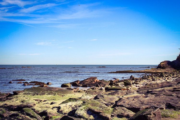 Sea Nature Horizon Over Water Rock - Object Water Scenics Beach Sky Tranquility Beauty In Nature Outdoors Blue Tranquil Scene No People Day