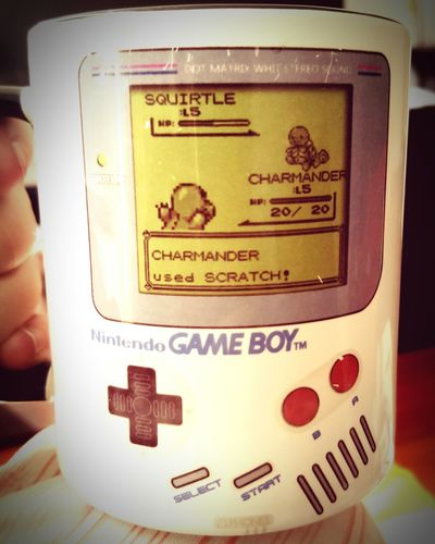 Getting sick and drinking hot tea from my classic Pokemon mug is an awesome kind of sick! Pokemon! Retrogaming First Eyeem Photo