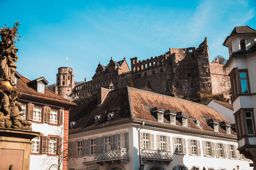 Castle Heidelberg Love Architecture Building Exterior Built Structure City Day History Low Angle View No People Outdoors Sky Window