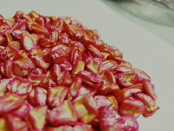 Sweet corn Food No People Red Indoors  Sweet Corn Pink Color Seed Pods Close-up Corn Indoors  Research EyeEm Selects Nature Seeds Photography Plant Cultivate; Posthavest