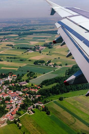 Aerial view of landscape in bravaria