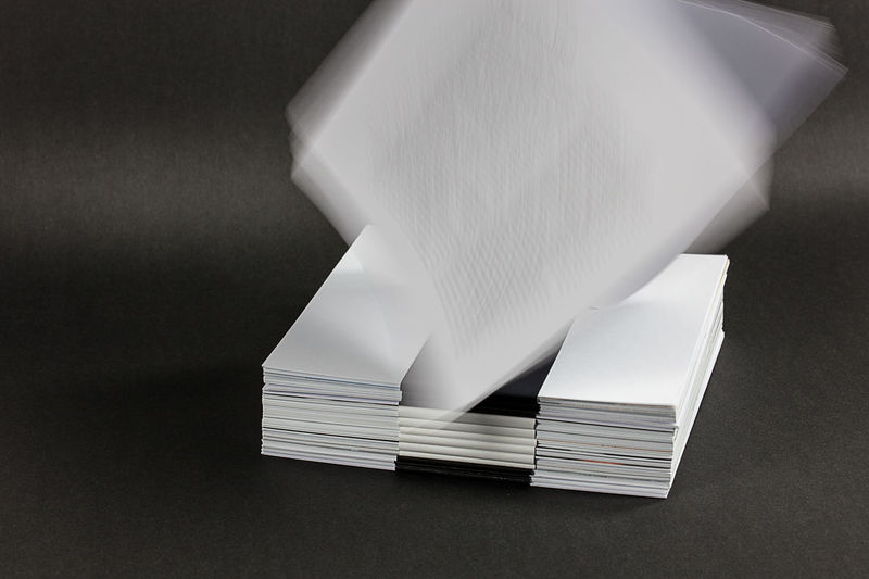 Close-up of tissue paper on table