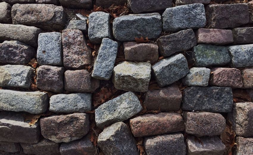 Full frame shot of stone wall