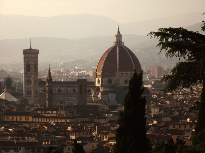 High angle view of dome of florence