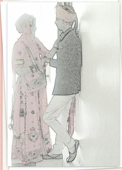 Me and my crush Love ♥ Lovelovelove Function Stylish Style And Fashion RAJPUTANA CUSTOMS ♥ Rajputi_Attire Banna And Baisa