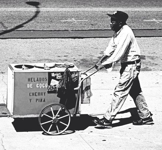 The ice cream man - Brooklyn NYC People Brooklyn Bridge / New York EyeEm Best Shots - Black + White