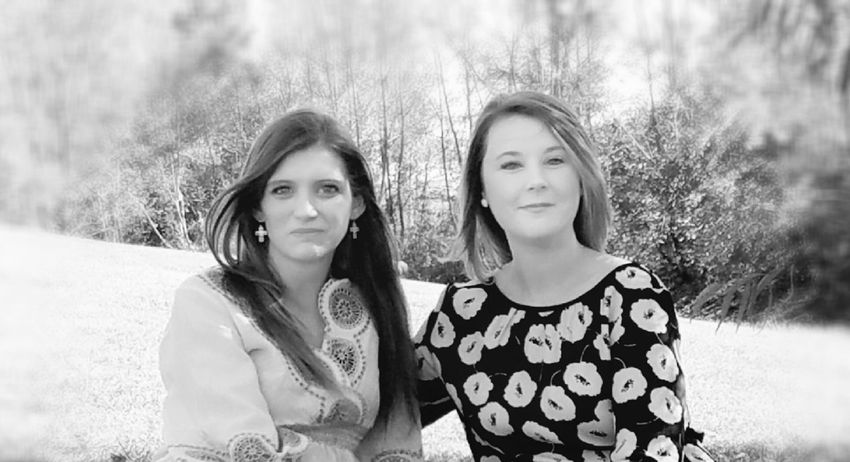 Black And White Two People People Beauty Portrait Outdoors Day Friendship Nature Togetherness Adult Young Adult Women Rural Scene Beautiful Woman Young Women Smiling Looking At Camera Beautiful Niece Simplicity My Year My View NaturalBeauty Fine Art Photograhy Still Life Photography Pattern Texture Shape Design