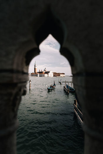 St Marks Square And Grand Canal Seen Through Arch
