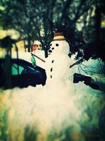 Snowman with a Heineken