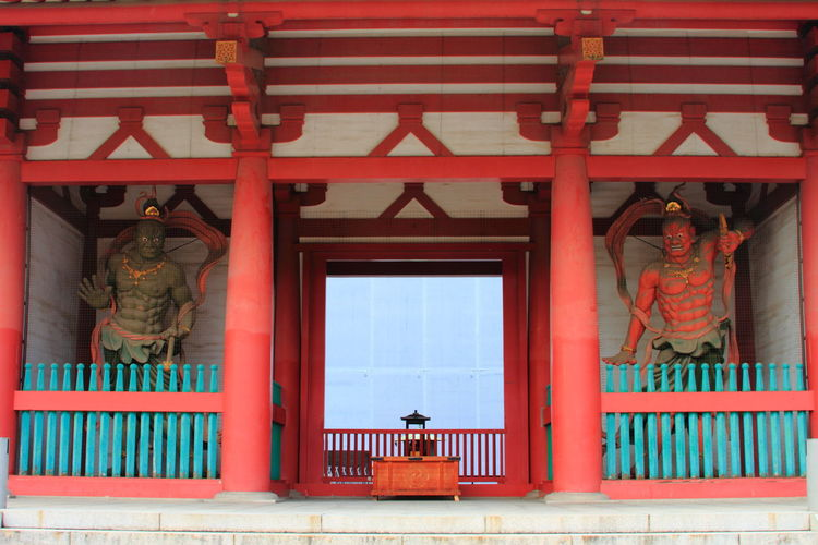 Statues in japanese temple
