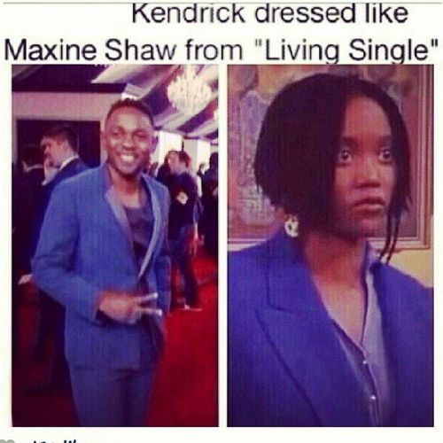 I LOVE Kendrick...whoever did this was PETTY!!! lls Kendrick Kendricklamar MaxineShaw LivingSingle