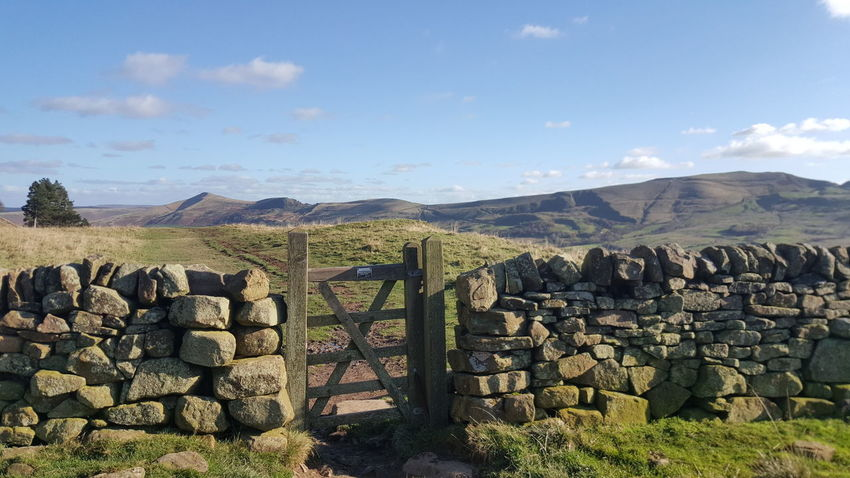 A beautiful walk today along the Pennineway with the dogs 😎🐶🐶 Rural Scene Outdoors Landscape Sky Nature From My Point Of View Because 🌟i🌟can😛 Samsung Galaxy S6 Edge Photography Is My Escape From Reality! For Anyone Whos Interested Beauty In Nature Stunning_shots Cloud - Sky Check This Out Beautiful Day Edale Peak District  Afternoonwalk SundayFunday Sunday Walk Dog Walking Landscape_Collection Landscape_photography Gate