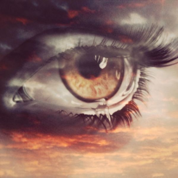 Tears in heaven Photoshop Crying Eye In Heaven I Miss You
