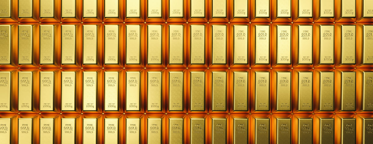 Banking and financial industry concept with gold bars in a row. banner size- Although the gold standard has passed, a declining US dollar means rising gold prices Wood - Material Vault Treasure Trade Success Stock Still Life Side By Side Shiny Shine Shelf Savings Rich Lifestyle Rich Reserve Repetition Profit Precious Pattern Order Orange Color No People Money Background Money Monetary Metal Market Lottery Winner Large Group Of Objects Kilogram Investment Ingot Indoors  In A Row Gram Golden Background Golden Gold Background Gold Full Frame Financial Finance Business Finance Exchange Economics Currency Container Commercial Commerce Collection Close-up Business Finance Business Bright Brick Bottle Block Bar Banner Banking Bank Backgrounds Background Arrangement Abundance 1000 999.9