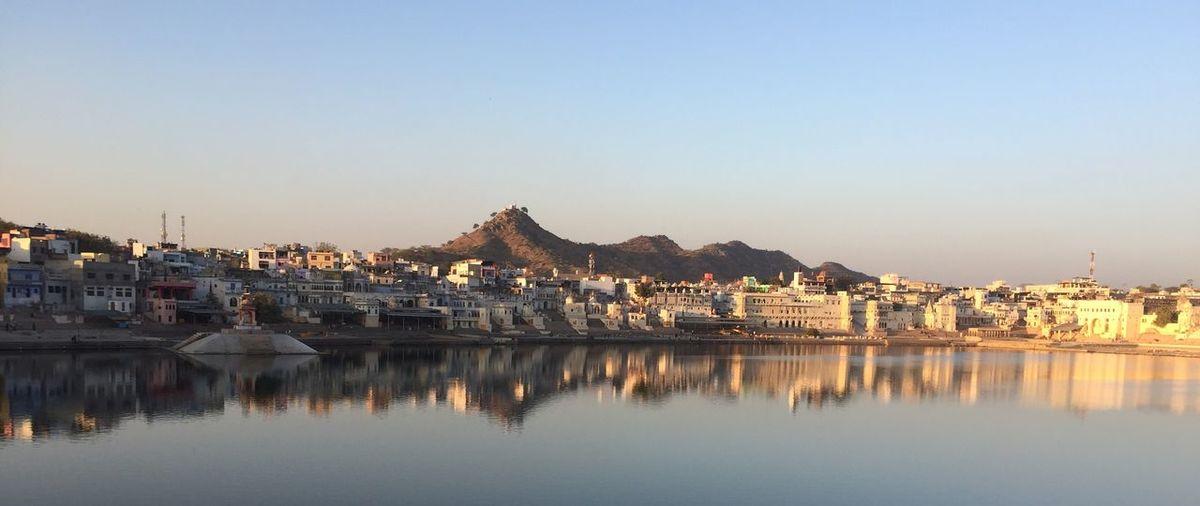 Pushkar Lake, Rajasthan, India Nofilter India Rajasthan Pushkar Building Exterior Copy Space Outdoors Reflection Sky Day