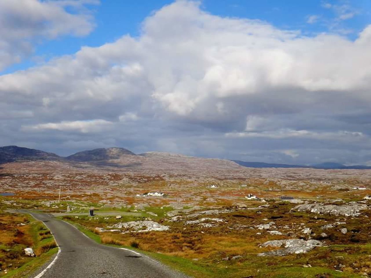 road, cloud - sky, sky, the way forward, nature, scenics, no people, tranquility, outdoors, landscape, tranquil scene, day, transportation, beauty in nature, mountain, curve, winding road