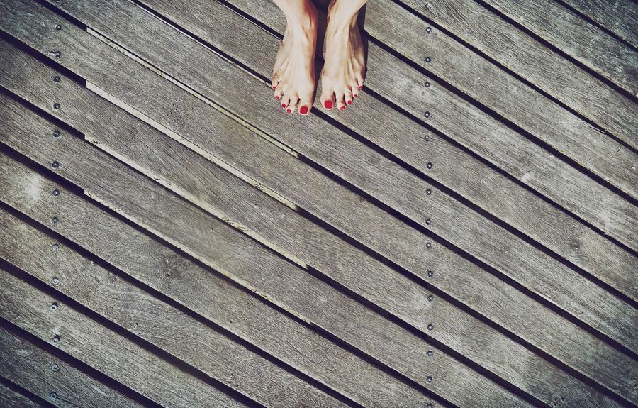 Foot Nails Nailpolish Simple Floor Wood - Material Wooden Skin Diagonal Diagonal Lines Lines Lines And Shapes High Angle View Real People Showcase April Holidays Simplicity Learn & Shoot: Simplicity Details Colours And Patterns Outside Outdoors Taking Photos Streetphotography Up Close Street Photography