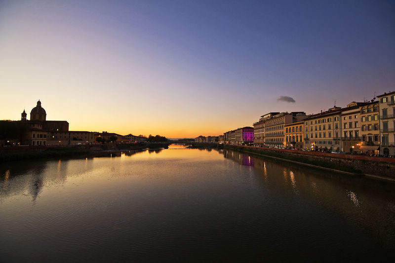 Arno  Autumn Bridge Calm Culture Dusk Dusk In The City Famous Place Firenze Florence Florence Italy International Landmark Italy Outdoors Reflection Renaissance River Riverbank Sky Sunset_collection Travel Travel Photography Tuscany Water Waterfront