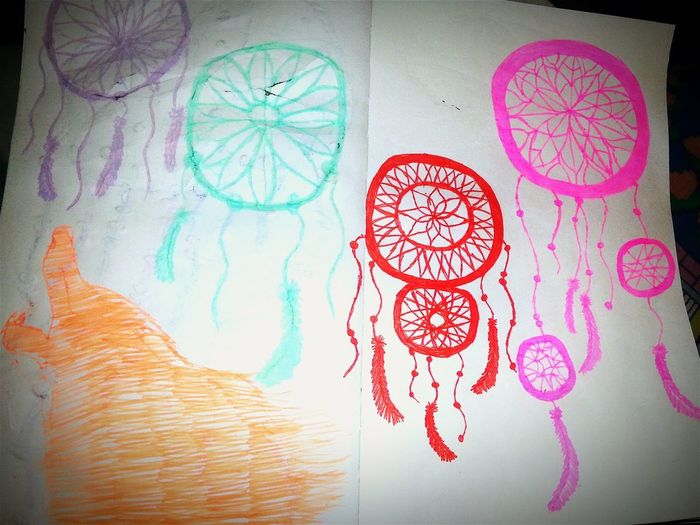 Dreamcatcher Drawing Sketchbook Howling At The Moon 48 Gel Pens Fiskars Be Gentle