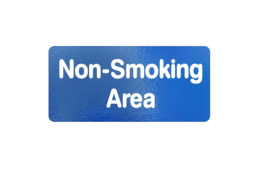 Non Smoking Area A blue and white sign for Non Smoking Area. Addiction Area Blue Cancer Cigarette  Cigarettes Forbidden Habit Health No People Non-smoking Notice Prohibited Quite Sign Signs Smoker Smoking Symbol Text Tobacco Warning