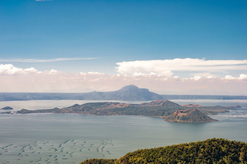 Taal Volcano, Philippines Batangas Beauty In Nature Blue Sky Clear View Day Green Leaves Landscape Morning Shot Mountain Nature Nature No People Outdoors Picturesque Scenics Sky Taal Lake Taal Volcano Taal Volcano Philippines Tagaytay