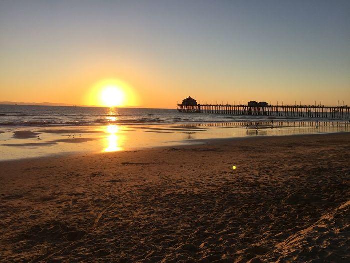 Huntington Beach in fall