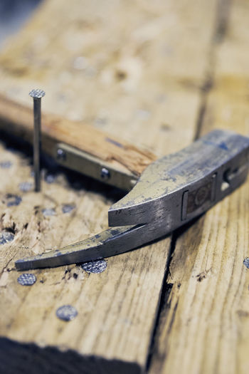 Action Builder Closeup Construction Craft Depth Of Field Fails Hammer Hand Tool HEAD Hit It Job Lets Work Nail Nails Plank Tool Wood Work Tools Workbench