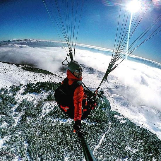 Goprohero4 Snow Clouds Paraglidingturkey Amazing Flight Fuki Acrobatics  Merzifon