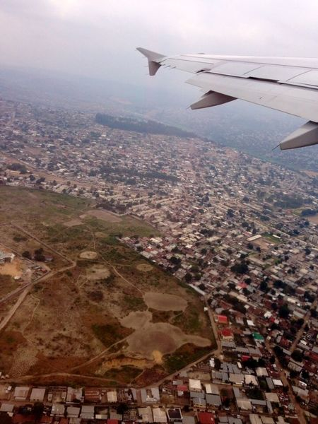 From An Airplane Window Traveling Congo