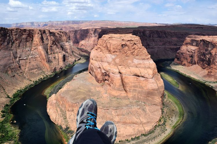 Low Section Of Person At Horseshoe Bend